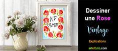 Dessiner une rose vintage | APPRENDRE A DESSINER, artettuto