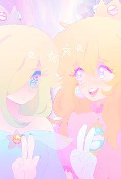 Rosalina and Peach by bucerati.tumblr.com