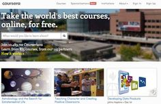 Coursera gives you access to millions of free internet classes on any topic.