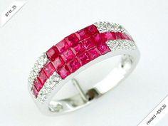 Women's Diamond & Ruby Ring in 14K White Gold (1.70 ctw)