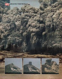 1980 MOUNT ST. HELENS vintage magazine article ~ When the Mountain Blew ~ When the Mountain Blew - Unpublished pictures show how the eruption of Mount St. Helens looked to people who were too close for comfort - Gary Rosenquist - photographer ...