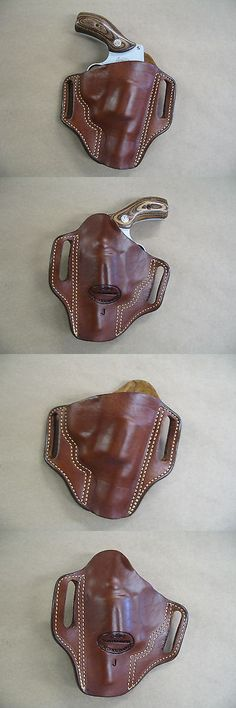8a32197a5e0b Holsters 177885  Smith And Wesson Sandw J Frame Leather 2 Slot Molded  Pancake Belt Holster Ccw Tan Rh -  BUY IT NOW ONLY   44.95 on eBay!