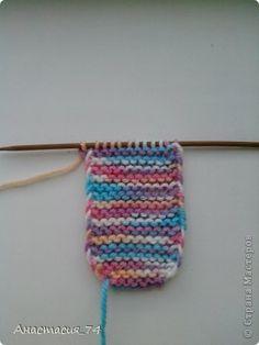 Гардероб Мастер-класс Вязание спицами Очень простые пинеточки для малыша подробный МК Нитки Пуговицы фото 12