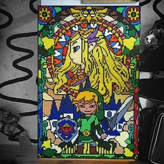 Legend of Zelda hama perler bead art by sweetbeads