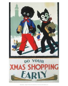 Giclee Print: Do Your Xmas Shopping Early, Golliwog and Bulldog with Toy Train and Parcels : Minis, Popular Hobbies, Felix The Cats, Model Train Layouts, Little Doll, Christmas Shopping, Christmas Budget, London Christmas, Christmas Scenes