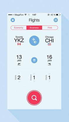 Flight Search App UI Designs and Concepts for Inspiration
