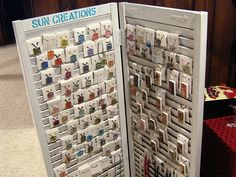 glass and domino tile pendant display by suncreations, via Flickr