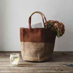 Hand Woven Jute Basket Chestnut - The Future Kept. Fairtrade product.
