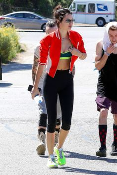 Celebrities looking chic while working out: Kendall Jenner.