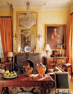 Antiques Dealer & Interior Designer Patrick Dunne's home in New Orleans. Southern Accents March April 2009