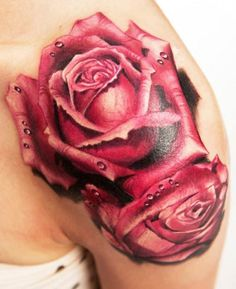 Red Rose special 3D Tattoo   #Tattoo, #Tattooed, #Tattoos