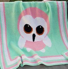 Crochet Pattern   Baby Blanket / Afghan - Baby Owl