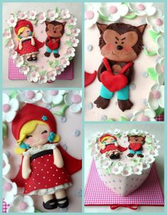 """Red Riding Hood cake for Valentine's day """"Sorry I tried to eat you """""""