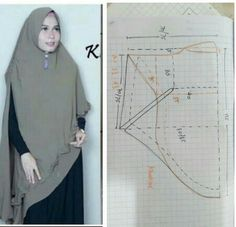 Niqab Fashion, Muslim Fashion, Fashion Dresses, Barbie Sewing Patterns, Clothing Patterns, Abaya Pattern, Denim Crafts, Hijab Tutorial, Mode Hijab