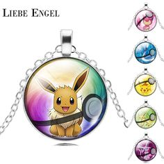 Find More Pendant Necklaces Information about LIEBE ENGEL NEW Pokemon Eevee Necklace Pokeball Glass Cabochon Statement Chain Pendant Necklace Women Fine Jewelry Gift 2016,High Quality necklace bicycle,China jewelry gold necklace Suppliers, Cheap jewelry necklace holder from LIEBE ENGEL Official Store on Aliexpress.com