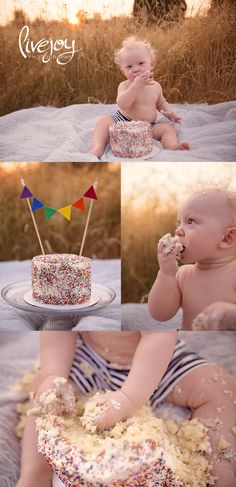 1 Year Cake Smash Session | Oregon | LiveJoy Photography