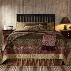 This is the Berkeley Quilted Bedding Collection from VHC Brands.  Visit our website for more patterns and sizes.