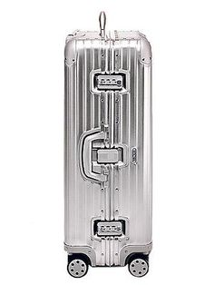 #Rimowa #Luggage #suitcase #Topas - Best of all, we loved the Topas multiwheel design which has four wheels and glides along with very little effort (we had fun making it pirouette) and is extremely light.  Silver 'Topas' multiwheel case, £565