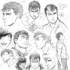 berserk__guts_sketches_by_denoro-d8sqvc0.jpg (900×900)