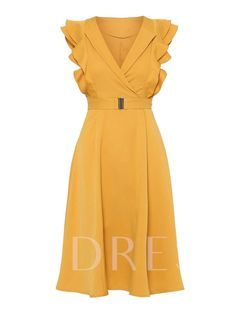Kinikiss yellow dress women pleated sleeveless wave cut lace-up sweet party dress summer 2019 double-layer elegant vintage dress Ladies Day Dresses, Women's Dresses, Vintage Dresses, Dress Outfits, Casual Dresses, Short Dresses, Fashion Dresses, Summer Dresses, Winter Dresses