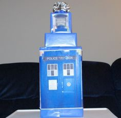 TARDIS gift wrapping - perfect for my brother!