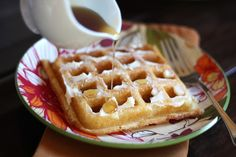 Light and Fluffy Buttermilk Waffles - Gluten Free recipe by Barefeet In The Kitchen (br rice and tapioca flours)