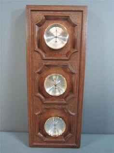 Springfield Thermometer Barometer Hygrometer No Key Decorative Plastic Frame #barometer #vintage #thermometer