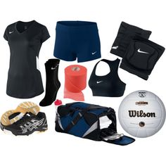 """""""Volleyball Uniform"""" by eappah on Polyvore"""