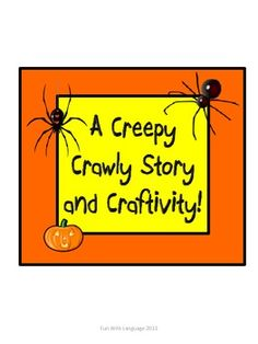 Creepy Crawly Spider Craftivity & Writing Activities for Halloween!