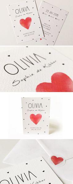 Olivia #geboortekaartje #onwerp #baby #kaartje #announcement