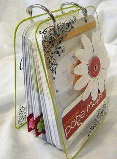 Scrapbook Page Maps mini book - could create something similar for card layouts/sketches - bjl