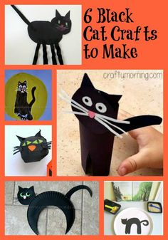 6 Black Cat Crafts to Make http://www.lifeofasouthernmom.com/6-black-cat-crafts-to-make.html
