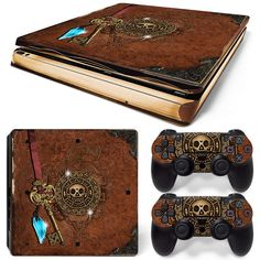 Ps4 Slim Playstation 4 Console Skin Decal Sticker Old Book Treasure Custom Set #ZoomHit