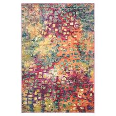 Anchor your living room seating group or define space in the den with this loomed rug, featuring a multicolor abstract motif for eye-catching appeal.  Product: RugConstruction Material: PolypropyleneColor: Turquoise, purple, orange and yellowFeatures: Power-loomedNote: Please be aware that actual colors may vary from those shown on your screen. Accent rugs may also not show the entire pattern that the corresponding area rugs have.