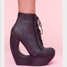 9e2931e8 Jeffrey Campbell Roxie Black Distressed Never used , with original box.  Size 8, distressed black. NO TRADES Jeffrey Campbell Shoes Ankle Boots &  Booties