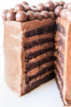 Chocolate Mousse Layer Cake! Wow.