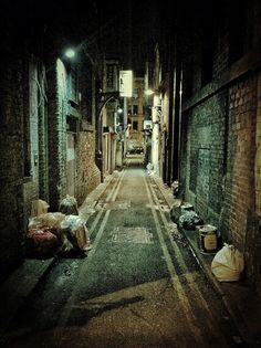 Alleyway in China, Manchester, UK