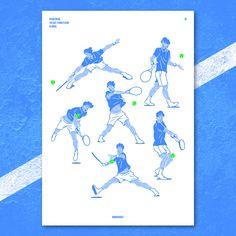 The best tennis player in Korea. on Behance Graphic Design Illustration, Illustration Art, Online Portfolio, Tennis Players, Editorial Design, Book Design, Art Direction, Art Reference, Korea