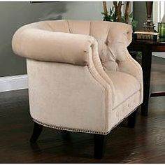 @Overstock - Bring sophistication and class to your living room with this Cabo Fabric Nailhead Trim Armchair. This furniture piece is constructed of wood and top quality designed fabric.http://www.overstock.com/Home-Garden/Abbyson-Living-Cabo-Fabric-Nailhead-Trim-Armchair/6772239/product.html?CID=214117 $351.99