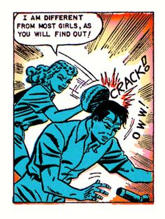 """Comic Girls Say.. """"I'm different from most girls , as you will find out ! """" #comic #vintage."""