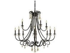 Framburg Liebestraum 12-Light 42'' Wide Chandelier