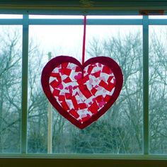 Valentine Sun Catcher by homemadediycrafts