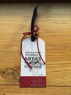 Christmas Gift Tags - Stampin' Up! Cozy Christmas