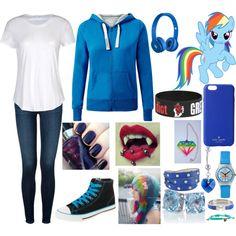 """Human Rainbow Dash"" by eyelessjack229 on Polyvore"