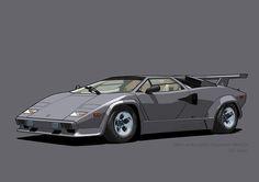 Lamborghini Countach Canna di Fucile (US spec) Lamborghini Cars, Vehicles, Car, Vehicle, Tools