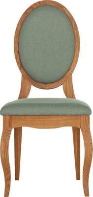 Schreiber Castleton Oak Pair of Duck Egg Dining Chairs