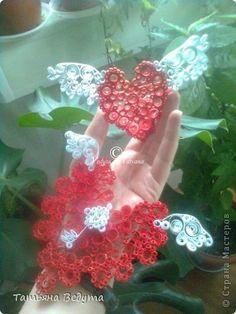 Фэн-шуй Квиллинг: Окрыленные сердца  и ключ к ним Бумага Валентинов день, День семьи, Свадьба. Фото 1