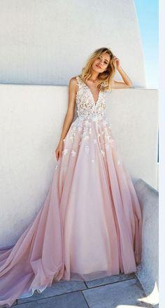 Evening Dress 2017,Prom Dress,V Neck dress,vestidos,party dresses,evening dresses,Pink