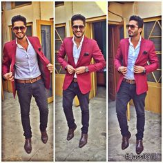 Mens Fashion Wear, Fashion Outfits, Gauhar Khan, Jassi Gill, Photo Poses, Photo Shoot, Stylish Men, Mens Fitness, Suit Jacket