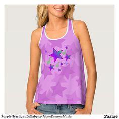 #PurpleStarlightLullaby #AllOverPrint #TankTop by #MoonDreamsMusic